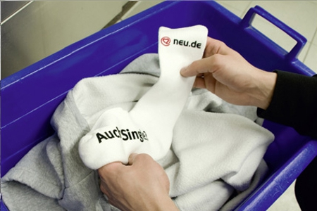 bac a chaussette Служба знакомств придумала новое средство партизанского маркетинга