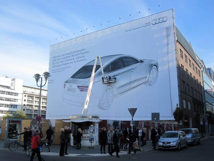 audi 0 Гигантские граффити от Audi