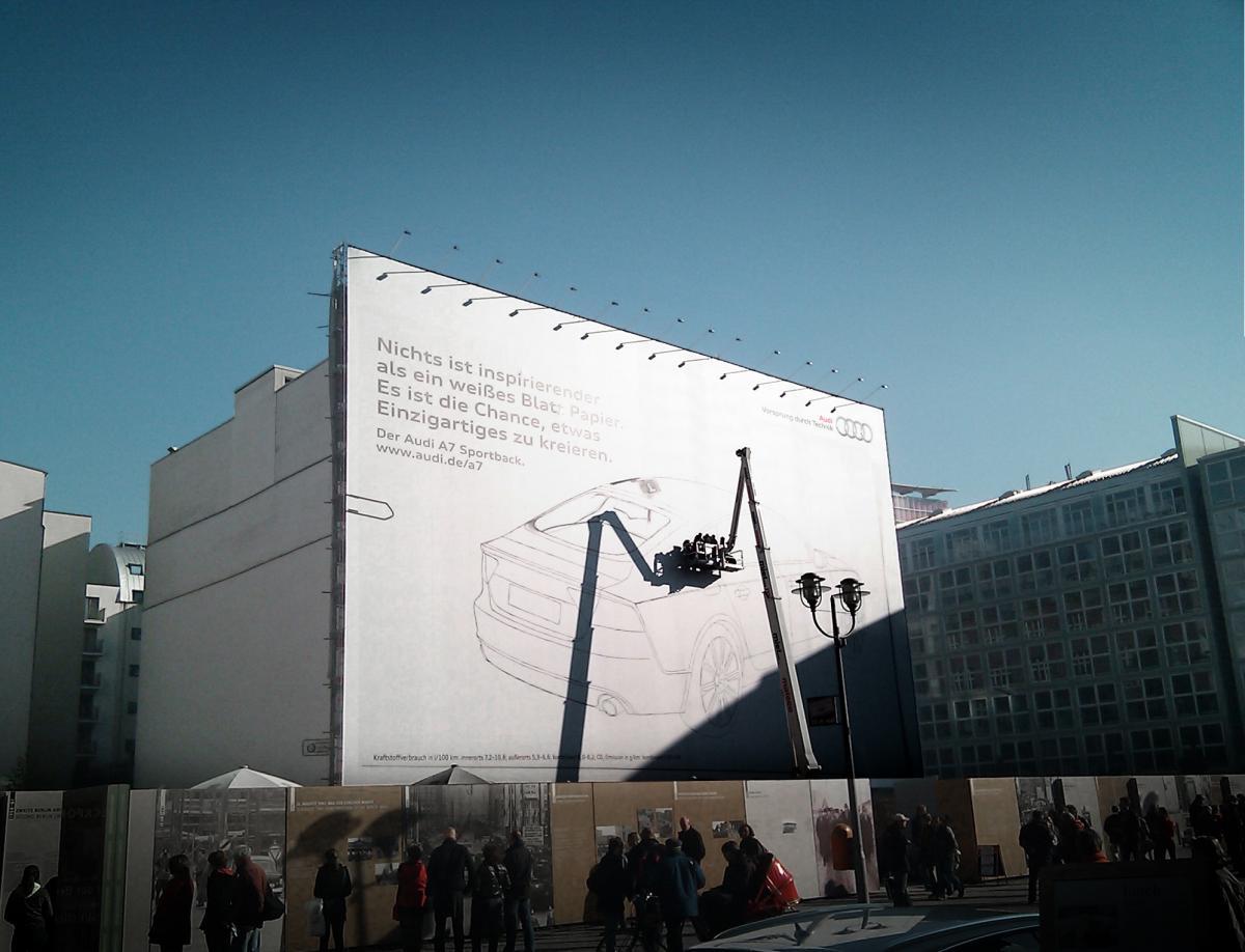 audi 1 Гигантские граффити от Audi