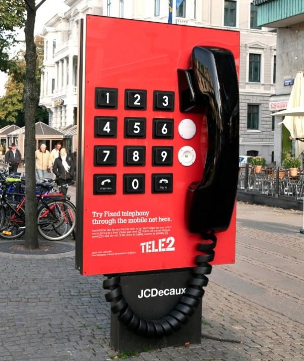 tele2 giant phone sweden 600x713 Телефон гигант от Tele2